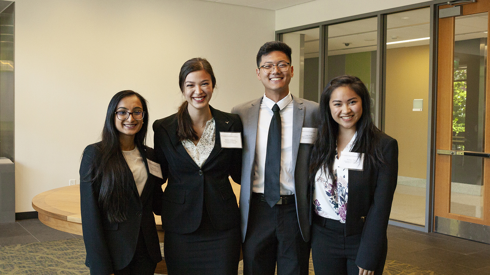 Four students on the Cambodia project team