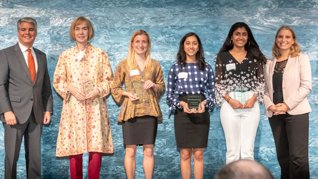 Team Lebanon | Student team members: Ishani Chakravarty, Edith Muleiro, Priya Ramamoorthy, and Kathryn Taylor. Faculty team members: Dr. Janet Ellzey, Dr. Noël Busch-Armendariz, and Dr. Katherine Polston.