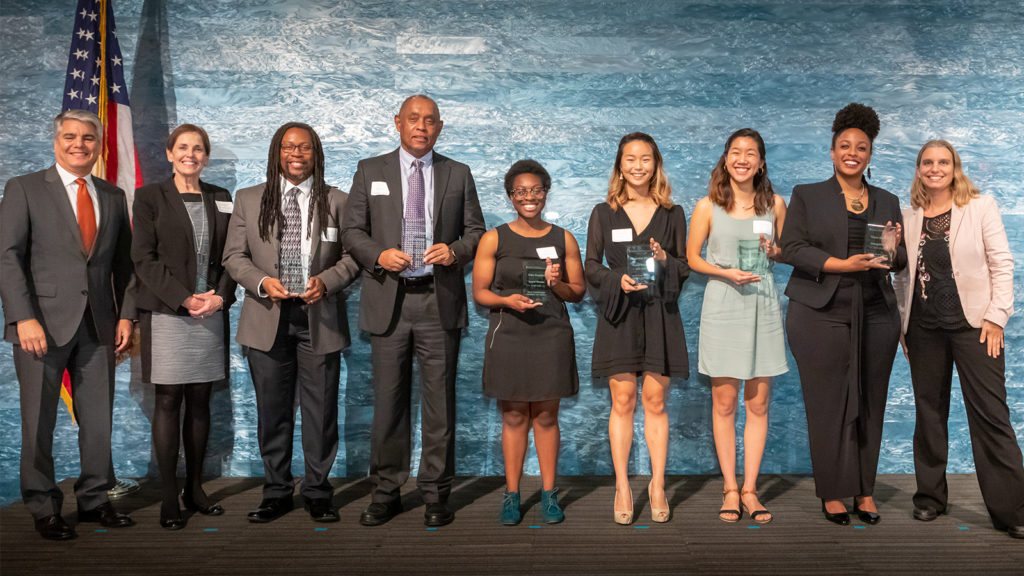 Team Ghana | Student team members: Timia Bethea, Rebecca Chen, Christina Cho and Vida Nwadiei. Faculty members: Prof. John Doggett, Dr. Kevin Cokley and Dr. Minette Drumwright.