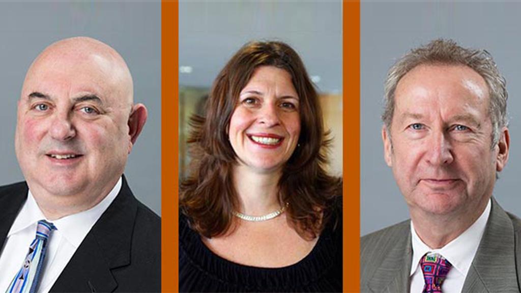 LBJ School Professors David Eaton, Jenny Knowles Morrison and Peter Ward.