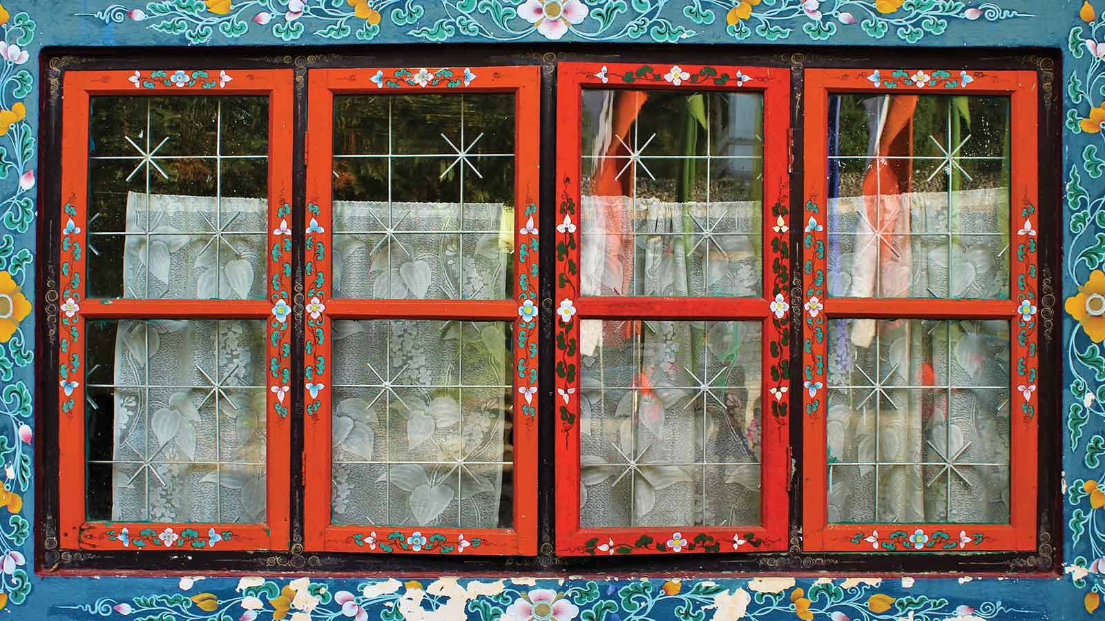 A colorful window in India