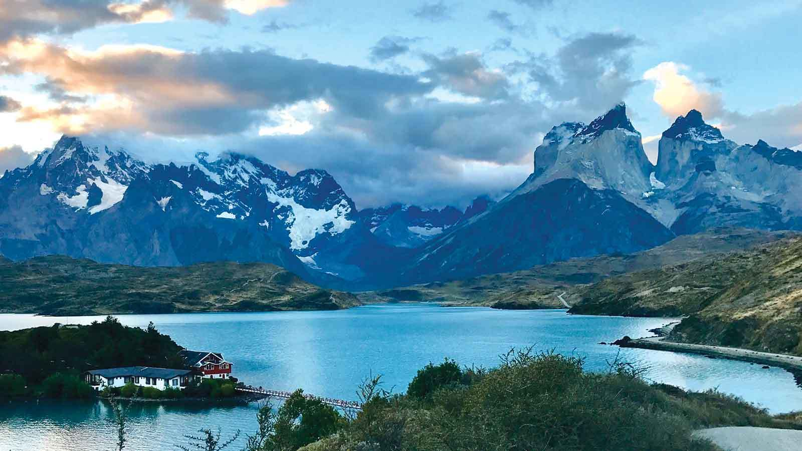 A lake and mountains in Chile