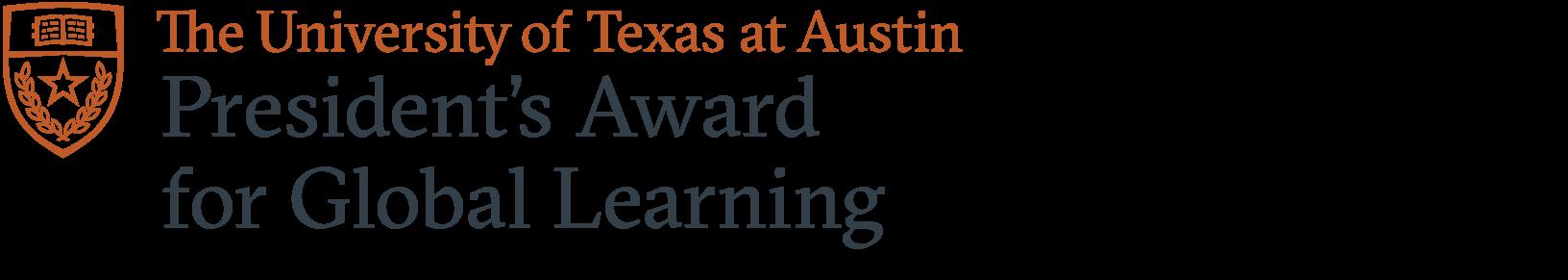 President's Award for Global Learning logo.