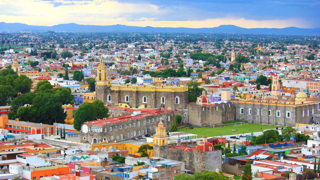 Bird's eye view of puebla mexico