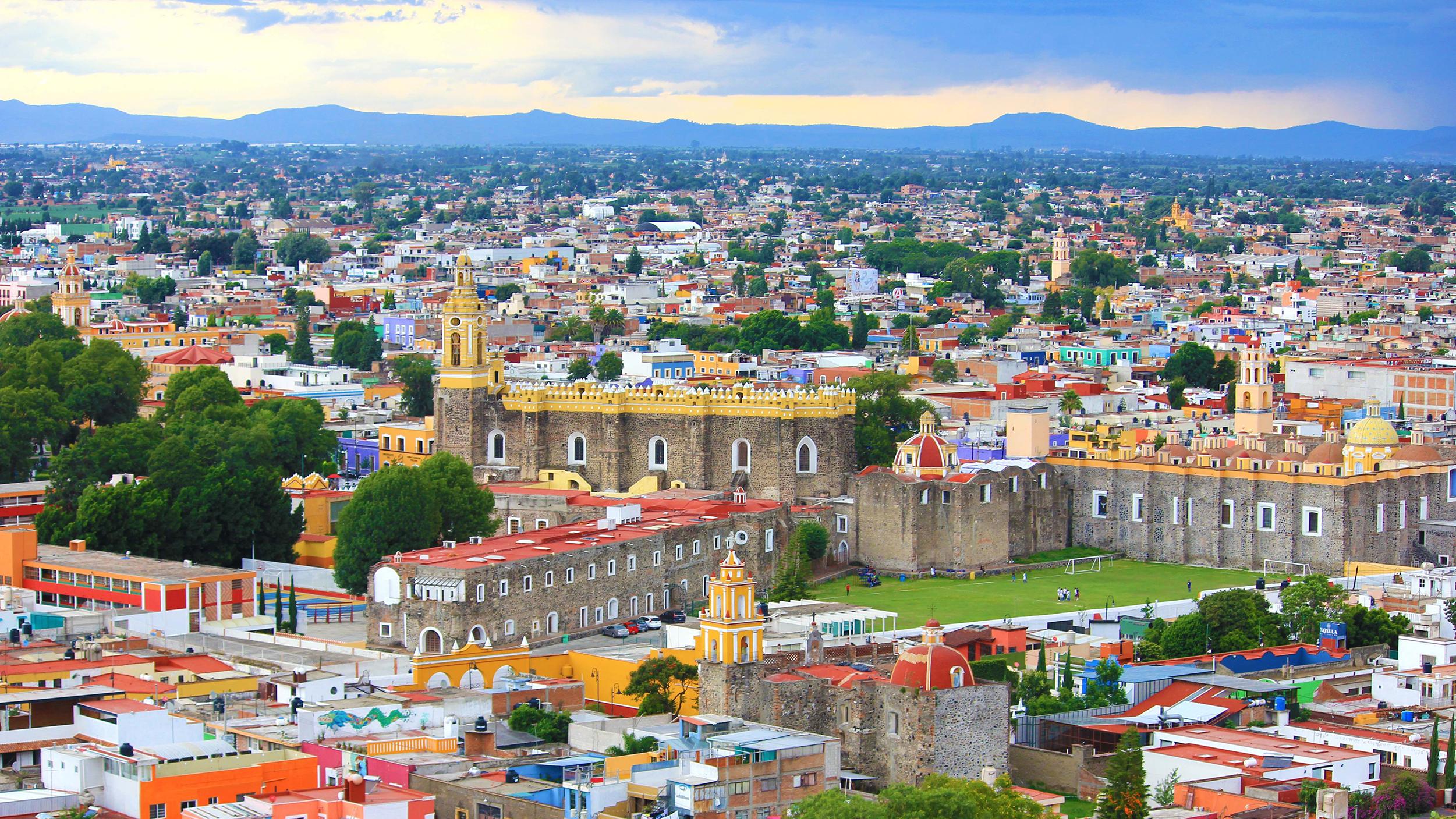Bird's eye view of puebla mexico