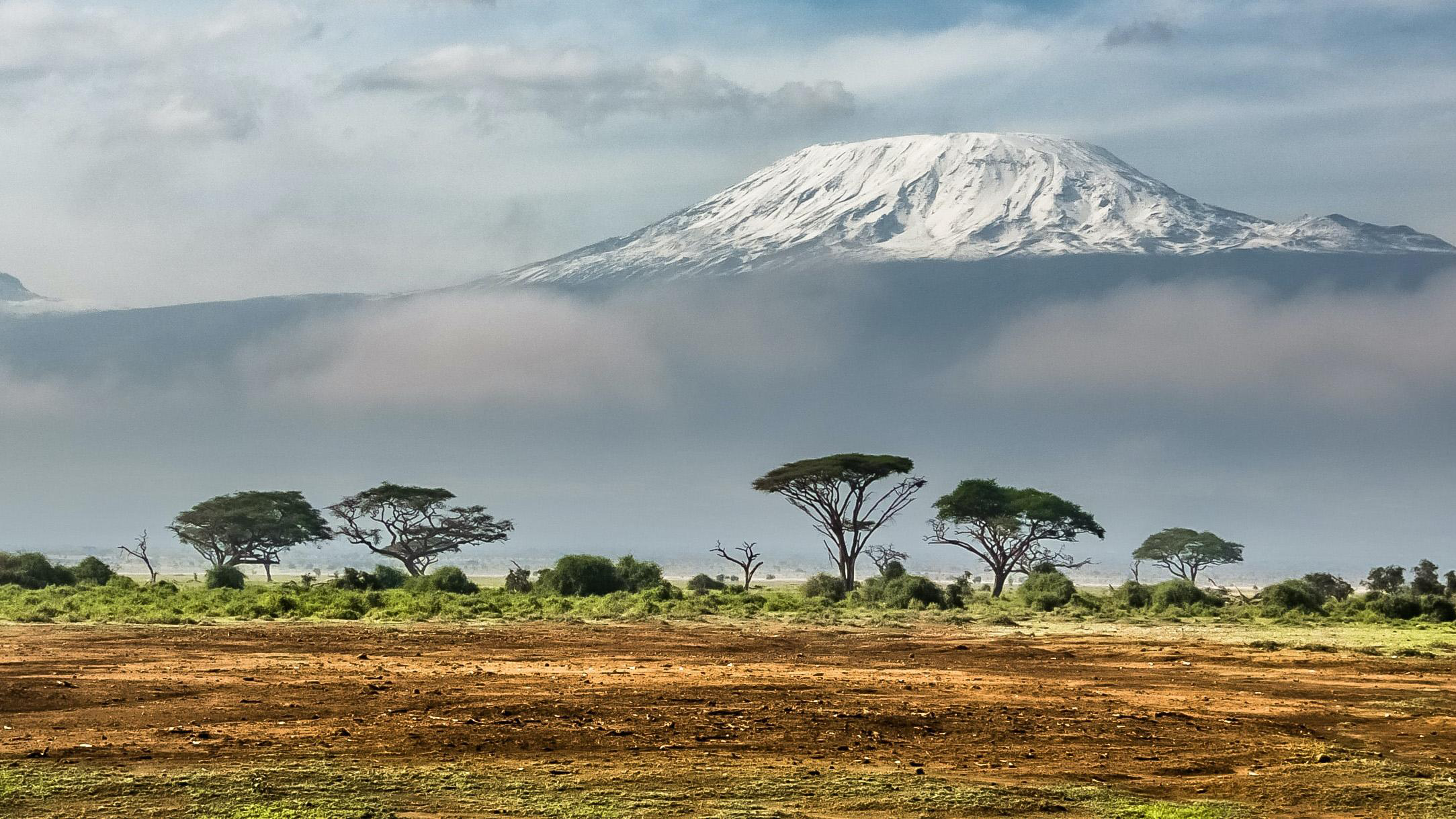 a view of a mountain in kenya