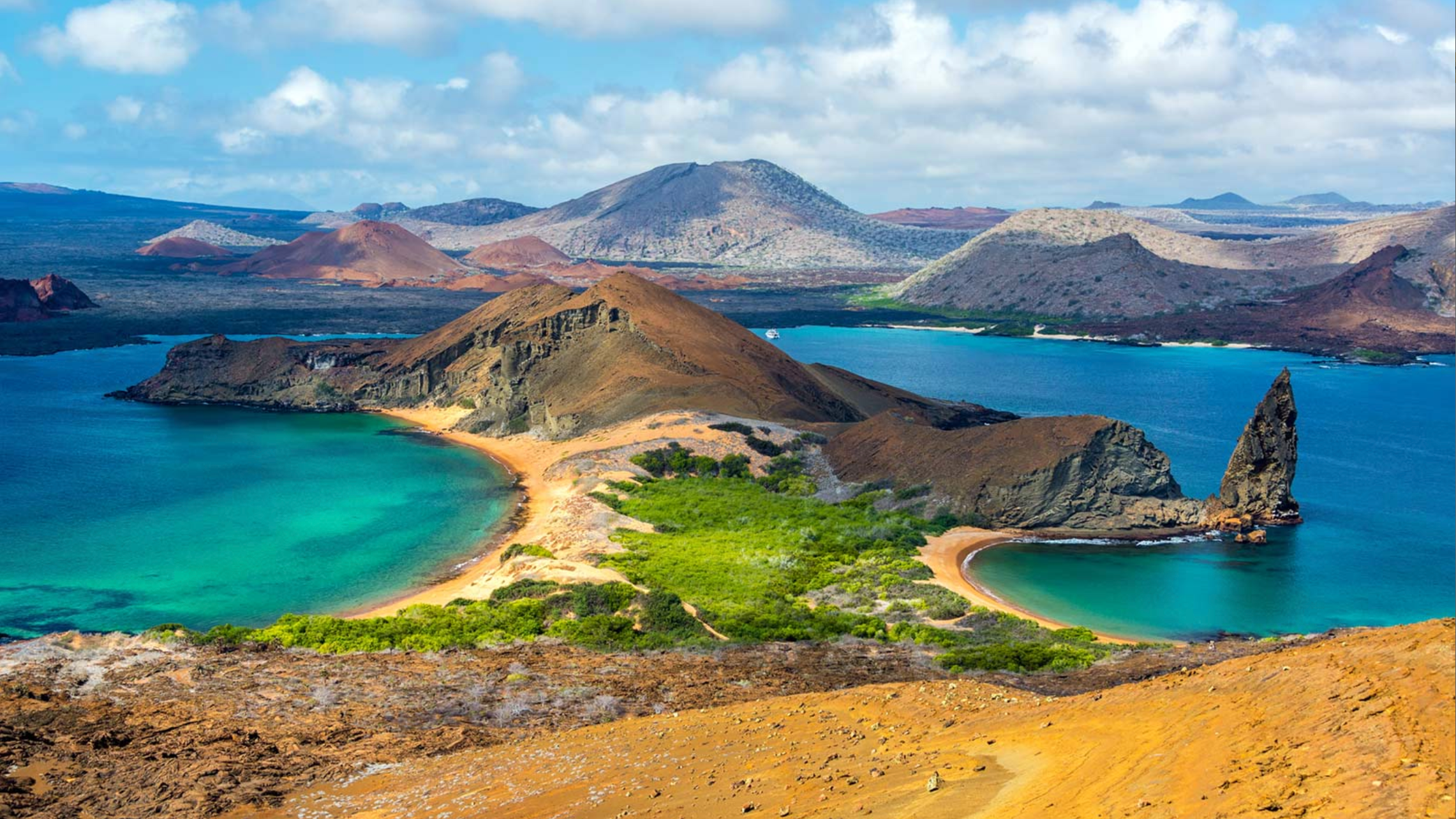 a view of the galapagos islands