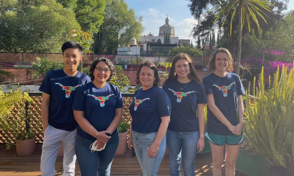 """Members of the """"Case for Connections"""" team in the UT President's Award for Global Learning."""